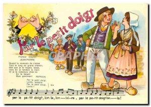 Modern Postcard For Little Finger