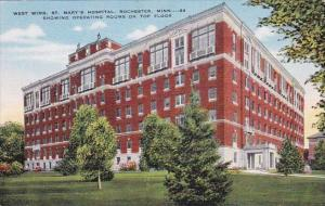 Minnesota Rochester West Wing Saint Marys Hospital