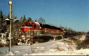 Trains Bangor & Aroostook GP38 Locomotives #81 and 85