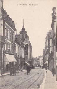 BOURGES, Rue Moyenne, Street Car tracks, Cher, France, 00-10s