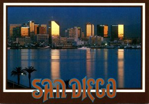 California San Diego Skyline At Sunset
