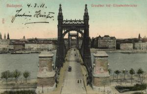 hungary, BUDAPEST, Erzsébet Hid, Elizabeth Bridge (1911) Stamp