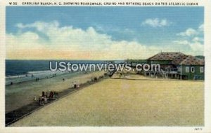 Boardwalk, Casino and Bathing Beach in Carolina Beach, North Carolina