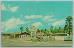 Flagstaff Arizona~Route 66~Western Hills Motel~Telephone Booth~Neon Sign~1960s