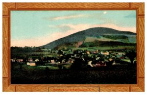 New York    Catskill   Mtns. Aerial view of Stamford  , Wood Border