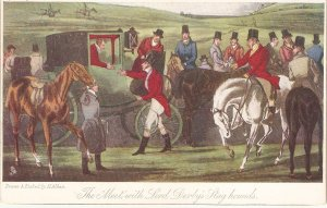 The Met with Lord Derbys. Horses Tuck The Olde Prints Series. PC # 2723