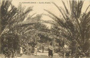 Morocco Casablanca animated public garden