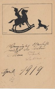 Silhouette ; Rocking Horse , 1919