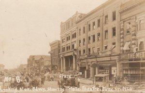 RP ; DAYTON , Ohio , 1924 ; Flood Scene , N. on Broadway