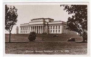 Memorial Museum Auckland University RPPC Real Photo postcard