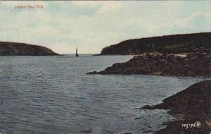 Sailboat in the distance, Digby Gap, Nova Scotia, Canada, 00-10s