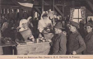 From an American Red Cross canteen in France , 1914-18