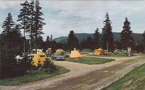 Camping grounds at Ingonish, Cape Breton Highlands National Park, Nova Scotia...