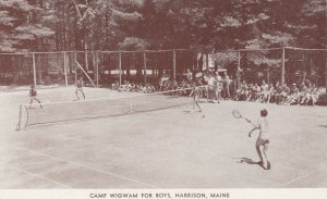 HARRISON , Maine, 1940s ; Camp Wigham for Boys ; Tennis