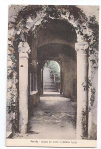 Italy Ravello Rufulo Palace Entrance to Garden Cicalese