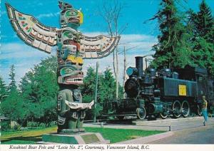 Canada Vancouver Island Kwakiutl Indian Bear Pole & Locomotive Lacie No 2...