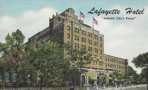 Postcard - NJ - New Jersey - Lafayette Hotel Atlantic City - Unposted Linen