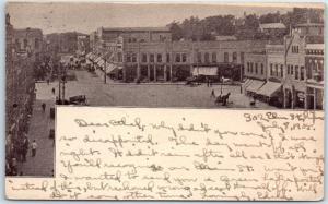 1905 Ripon, Wisconsin Postcard MAIN STREET Downtown Scene w/ Message & Cancel