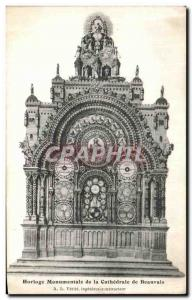 Postcard Old Clock Monumental to the Cathedral of Beauvais