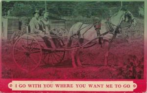 Romantic Couple In Carriage I Go With You Where You Want Me To Go 1911