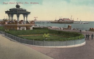 BRIGHTON, Sussex, England, 1900-10s ; Band Stand & West Pier