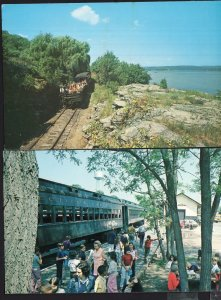 (2) Connecticut ~ Railroad The Valley Railroad ESSEX Depot Chrome 1950s-1970s