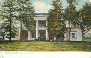 Nashville Tennessee~Tourists Gather @ The Hermitage Pillared Entrance TUCK 1906