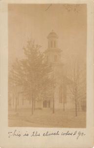 Fayetteville Pennsylvania Church Real Photo Antique Postcard K81126