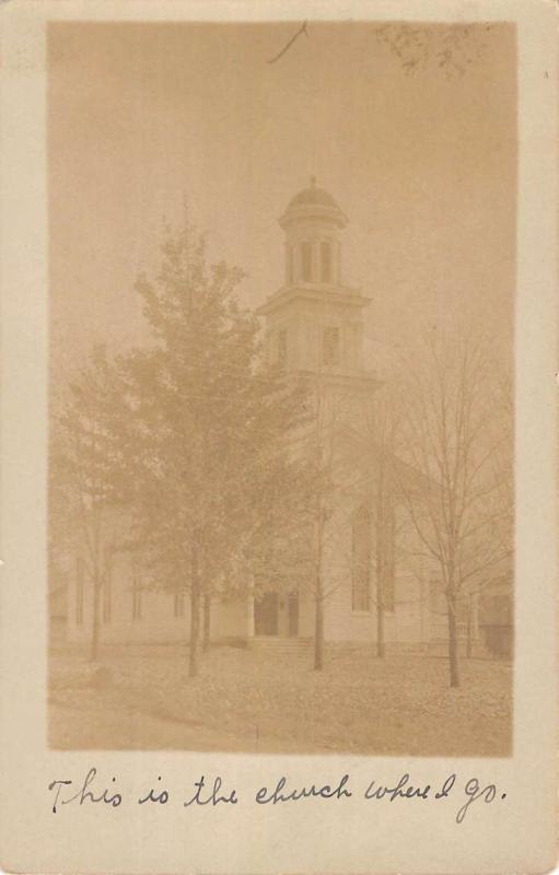 Fayetteville Pennsylvania Church Real Photo Antique Postcard K81126
