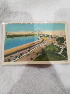 Antique Postcard, Riverside Drive and Express Highway Looking Towards GW Bridge