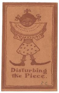 Black Americana Vintage 1906 Leather Postcard Little Girl