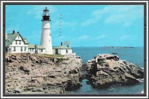 Maine, Portland First Light House Erected - [ME-149]