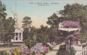 North Carolina Pinehurst Walk To Village Chapel Albertype