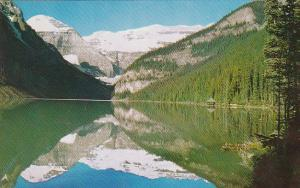 Canada Alberta Lake Louise Early Morning View As Seen From The Chateau