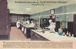 FREEPORT , Illinois, 1900-10s ; Analytical Laboratory - The W-T-Rawleigh Company