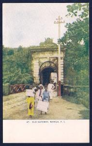 Old Gateway Manila Phillipines unused c1910's