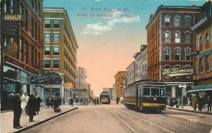 Chicago Illinois 1917 West Madison Street Trolley Halsted Gerson postcard 8390