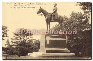 Old Postcard Mont Cassel Statue Of Marechal Foch