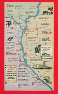 Mississippi River Recreation area , Map , 1950-60s