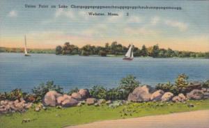 Massachusetts Webster Union Point On Lake Chargoggagoggmanchaugagoggchaubunag...