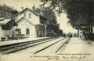 france, TONNAY-CHARENTE, La Gare, Station (1919) Postcard