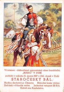Poster Art Post Card Starocesky Bal Unused