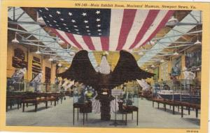 Virginia Newport News Mariners' Museum Main Exhibit Room 1953 Curteich