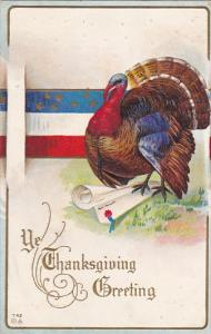 Thanksgiving Turkey With American Flag Patriotic