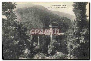 Old Postcard Gorges du Tarn Chateau de la Caze