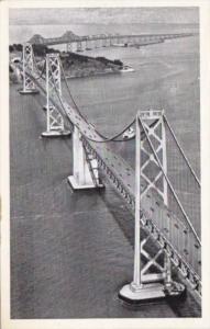 California San Francisco Oakland Bay Bridge Airplane View