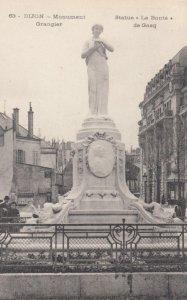 DIJON, France, 1910-1920s, Monument Grangier