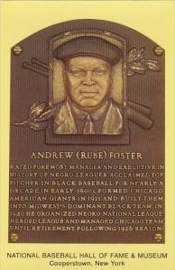 Andrew Rube Foster Baseball Hall Of Fame & Museum Cooperstown New York