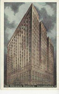 Postcard - PA - Pennsylvania Philadelphia Benjamin Franklin Hotel - Unposted