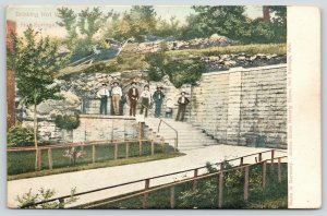 Hot Springs Arkansas~Half-Dozen Men in Line For Drink of Hot Water 1907 Postcard